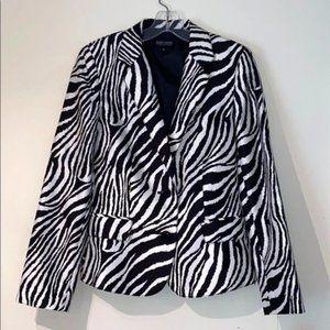 John Meyer Zebra Print Suit Jacket